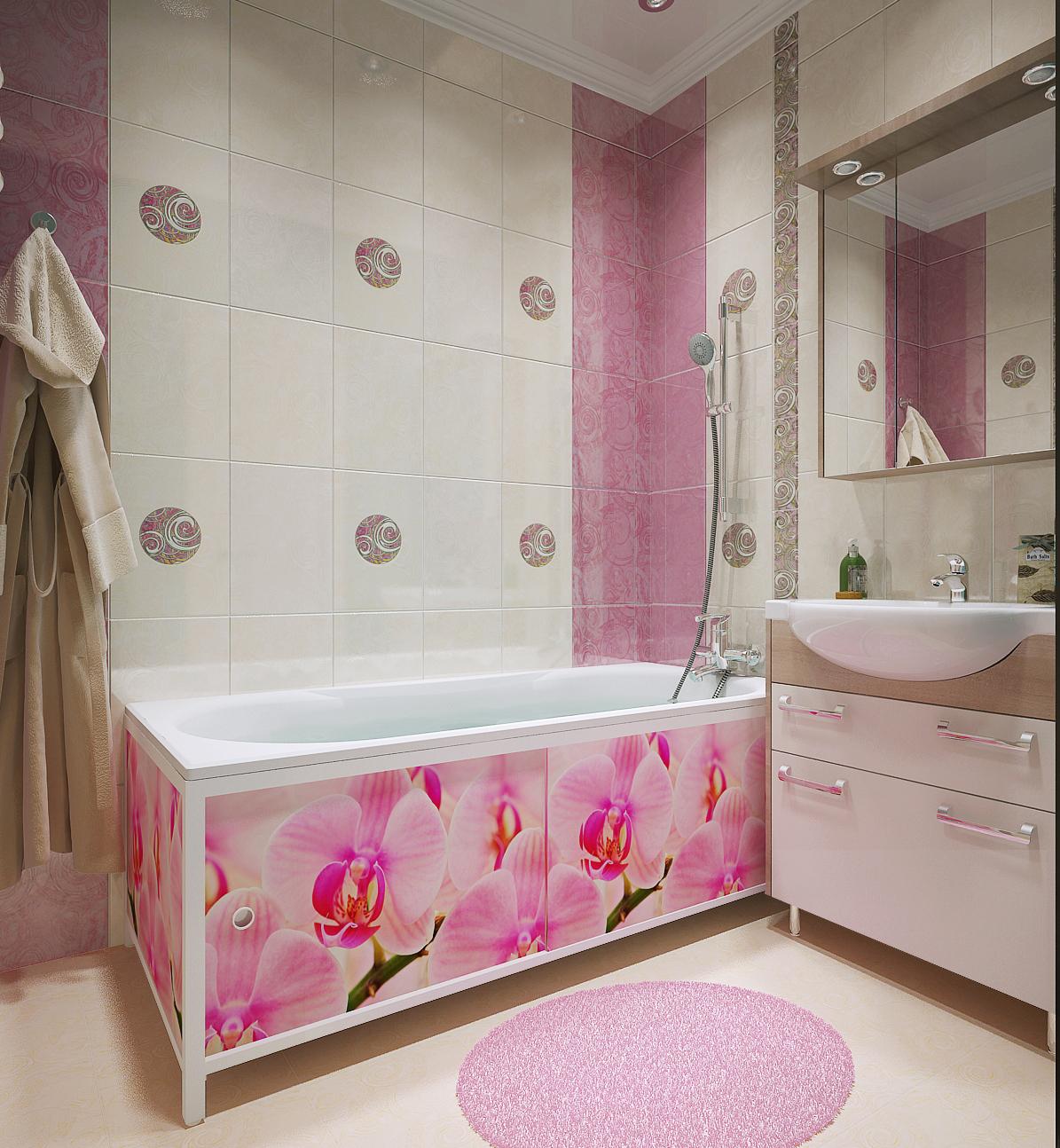 Экран в ванную комнату фото